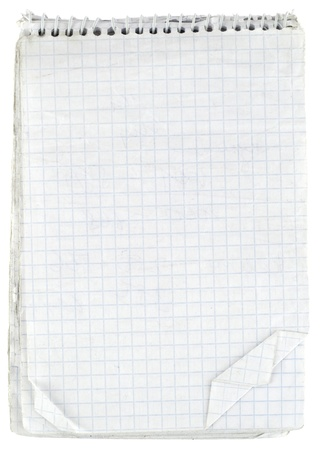 Old checked notebook paper photo