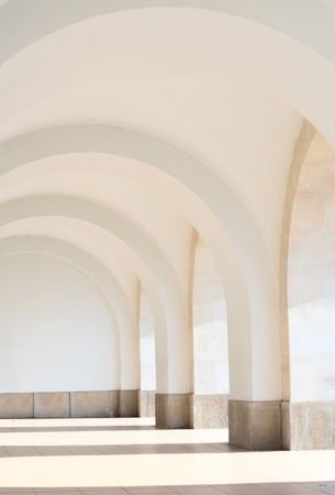 White arched pathway