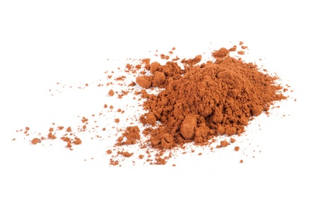 Cocoa powder isolated on a white background photo