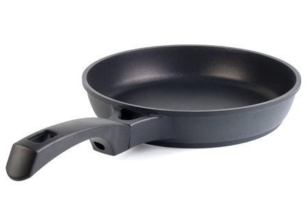 Frying pan isolated on white photo