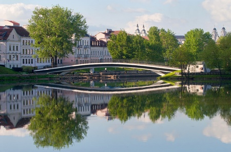 View at the Trinity Hill at Svisloch river in Minsk, Belarus photo