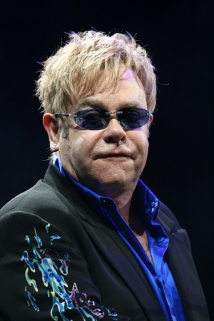 MINSK, BELARUS - JUNE 26: Singer Elton John performs onstage at Minsk Arena June 26, 2010 in Minsk, Belarus Stock Photo - 11400836