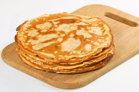 pancake week: Stack of pancakes isolated on white background