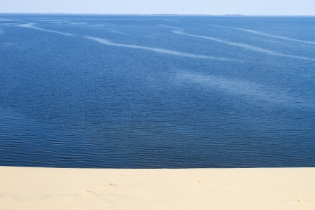 Desert sand background of a Curonian Spit dune photo