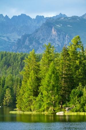 Strbske Pleso, beautiful lake in High Tatras mountains, Slovakia photo