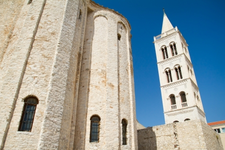 Bell tower of the Saint Domnius Cathedral in Split, Croatia photo