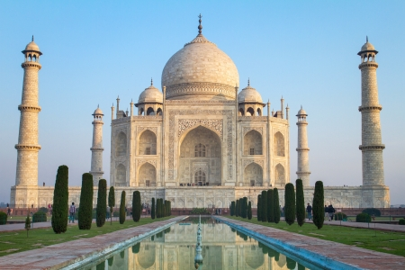 uttar: View of Taj Mahal, Agra, Uttar Pradesh, India Stock Photo
