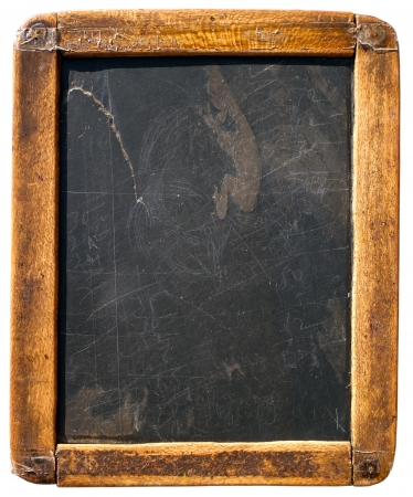 Vintage slake blackboard isolated on white Reklamní fotografie