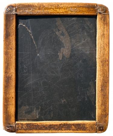chalk board: Vintage slake blackboard isolated on white Stock Photo