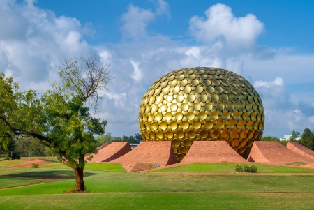 Matrimandir - Golden Temple in Auroville, Tamil Nadu, India