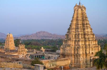 Virupaksha Temple in Hampi, Karnataka, India photo