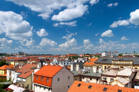 Prague, Czech Republic - new part of the city. View from Vysehrad. photo