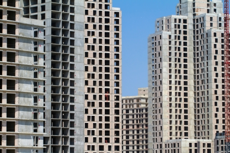 Construction of high residential or office buildings photo