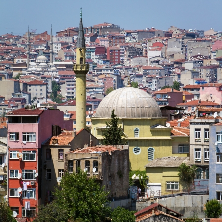 Istanbul downtown city view Stock Photo