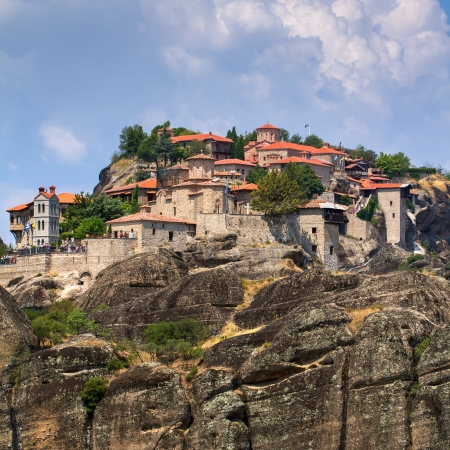 thessaly: The Holy Monastery of Great Meteoron, Meteora, Thessaly, Greece Stock Photo