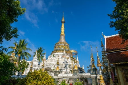 Pagoda at Wat Saen Fang temple in Chiang Mai, Thailand photo