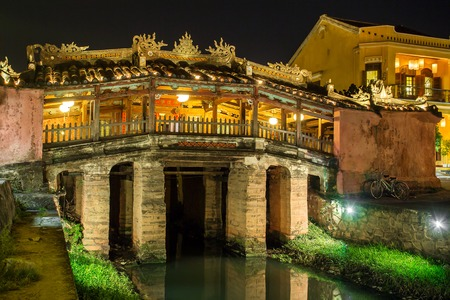 The japanese bridge in the old quarter of Hoi An, Vietnam.
