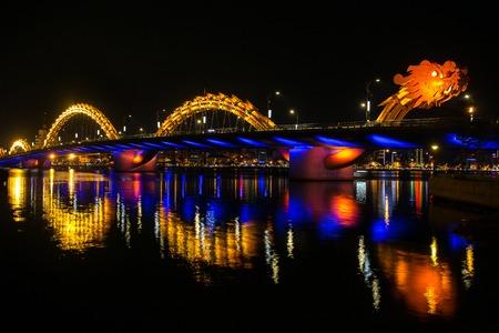 nang: Dragon River Bridge ( Rong Bridge) in Da Nang, Vietnam Stock Photo
