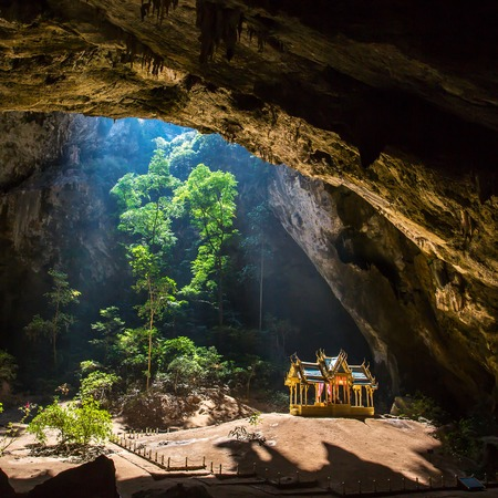 Royal pavilion in the Phraya Nakhon Cave, Prachuap Khiri Khan, Thailand photo