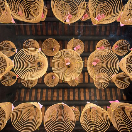 Spiral incense in the temple of Ho Chi Minh City, Vietnam Stock Photo - 28600443