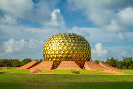 tamil nadu: Matrimandir - Golden Temple in Auroville, Tamil Nadu, India