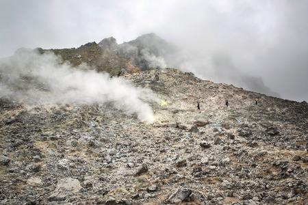 sumatra: Sibayak volcano near Berastagi in northern Sumatra, Indonesia Stock Photo