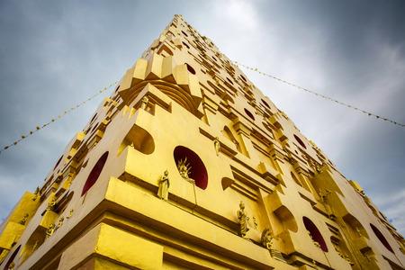 Bodhgaya-style stupa at Wangvivagegaram Temple, Sangkhlaburi,Thailand