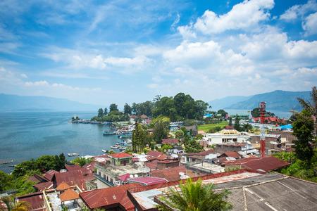 Parapat village, Sumatra, Indonesia Фото со стока