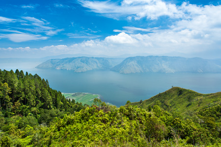 Lake toba or danau toba in North Sumatra, Indonesia Reklamní fotografie