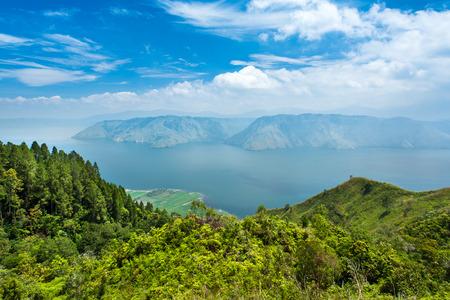 sumatra: Lake toba or danau toba in North Sumatra, Indonesia Stock Photo