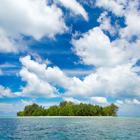 Beautiful uninhabited island at Karimunjawa archipelago, Indonesia photo