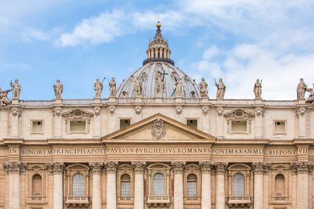 st  peter's square: Saint Peters Basilica at St. Peters Square in Vatican, Rome, Italy