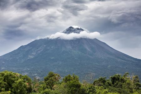indonesia culture: Mountain Merapi volcano, Java, Indonesia