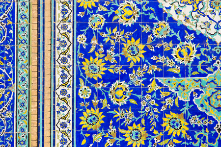 tiled: Tiled background with oriental floral ornaments