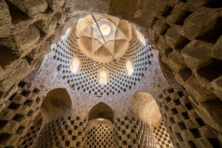 persia: Interior of the traditional pigeon house in Yazd province, Iran. Birds in Persia were important food source and were kept for their eggs, flesh and dung in specially built pigeon houses. Editorial