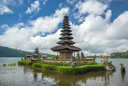 Pura Ulun Danu temple on a lake Beratan. Bali, Indonesia
