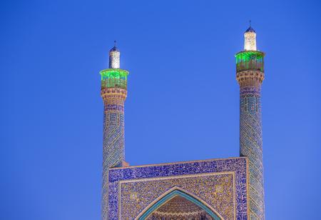 isfahan: The Shah Mosque in Isfahan, Iran. Night shot
