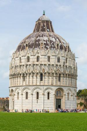 piazza dei miracoli: The Pisa Baptistry of St. John (Piazza dei Miracoli, Pisa, Italy). Build 1152-1363. Designed by Diotisalvi.