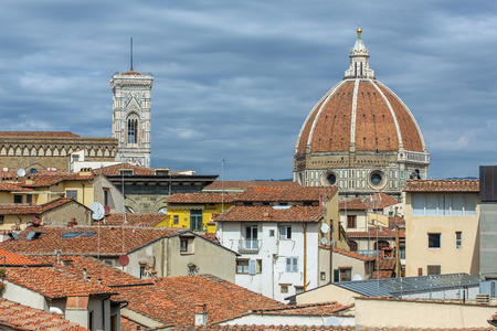 santa maria del fiore: Florence (Firenze, Tuscany, Italy): Famous Santa Maria del Fiore cathedrall, Duomo by Brunelleschi