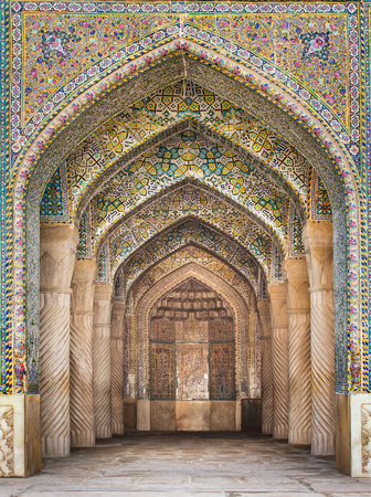 shiraz: Shiraz, Iran - December 26, 2015: Beautiful Vakil Mosque, Shiraz, Iran