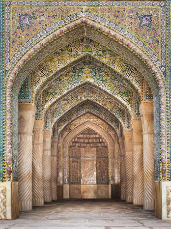Shiraz, Iran - 26 décembre 2015: Belle Mosquée Vakil, Shiraz, Iran