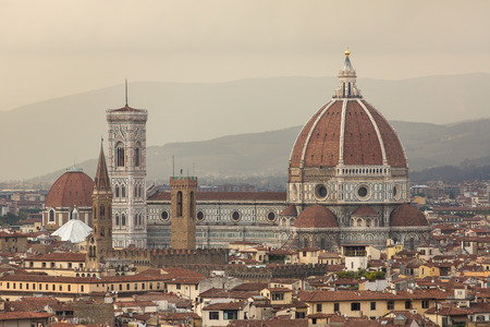 firenze: Florence (Firenze, Tuscany, Italy): Famous Santa Maria del Fiore cathedrall, Duomo by Brunelleschi