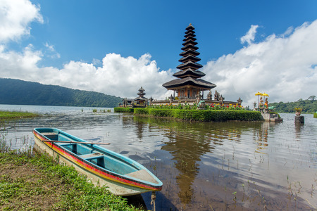 ulun: Pura Ulun Danu temple on a lake Beratan. Bali, Indonesia