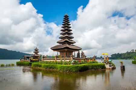 pura: Pura Ulun Danu temple on a lake Beratan. Bali ,Indonesia Stock Photo