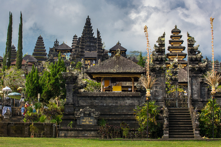 spiritual architecture: Pura Besakih temple, Bali, Indonesia Stock Photo