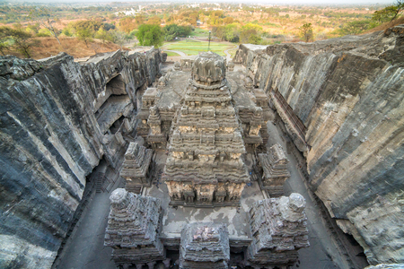 maharashtra: Kailas temple in Ellora caves complex, Maharashtra state in India