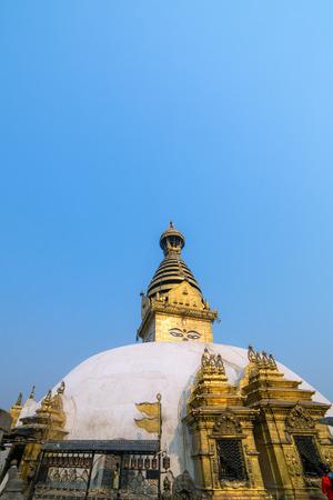 buddhist stupa: Swayambhunath Buddhist stupa in Kathmandu, Nepal