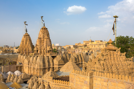 jainism: Roof of the Jain temple in Jaisalmer, India.