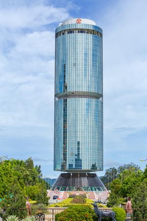 Kota Kinabalu, Malaysia - June 13, 2016: Tun Mustapha Tower, formerly known as the Sabah Foundation Building in Kota Kinabalu, Sabah, Malaysia Editorial