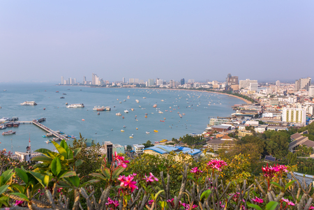 Panorama view of Pattaya city in Thailand. Day time Stock Photo